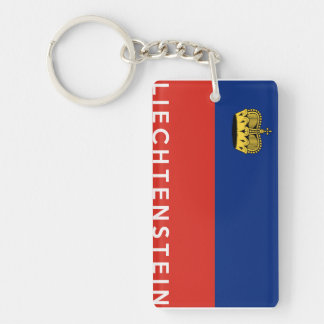 liechtenstein country flag text name keychain
