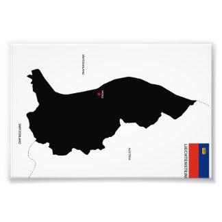 liechtenstein country political map shape flag art photo