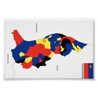 liechtenstein country political map shape flag photo art
