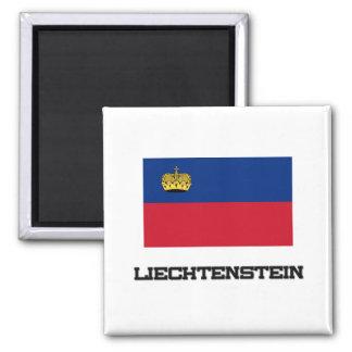 Liechtenstein Flag 2 Inch Square Magnet