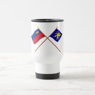 Liechtenstein Flag and Balzers Armorial Banner 15 Oz Stainless Steel Travel Mug