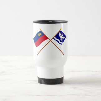 Liechtenstein Flag and Eschen Armorial Banner 15 Oz Stainless Steel Travel Mug