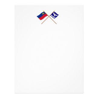 Liechtenstein Flag and Eschen Armorial Banner Letterhead Template