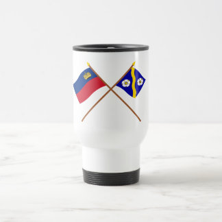Liechtenstein Flag and Gamprin Armorial Banner 15 Oz Stainless Steel Travel Mug