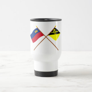 Liechtenstein Flag and Mauren Armorial Banner 15 Oz Stainless Steel Travel Mug