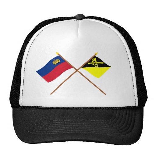 Liechtenstein Flag and Mauren Armorial Banner Trucker Hat