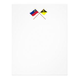 Liechtenstein Flag and Mauren Armorial Banner Personalized Letterhead