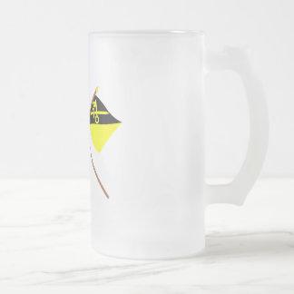 Liechtenstein Flag and Mauren Armorial Banner 16 Oz Frosted Glass Beer Mug