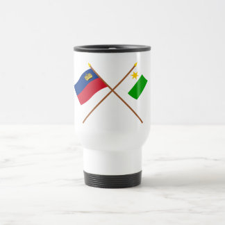Liechtenstein Flag and Planken Armorial Banner 15 Oz Stainless Steel Travel Mug