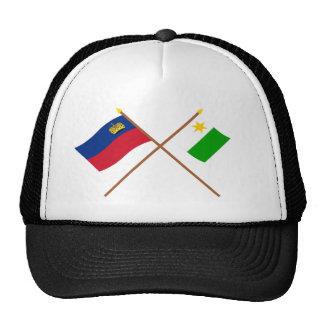 Liechtenstein Flag and Planken Armorial Banner Trucker Hats