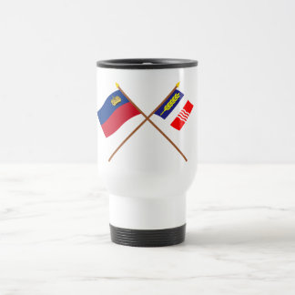 Liechtenstein Flag and Schaan Armorial Banner 15 Oz Stainless Steel Travel Mug
