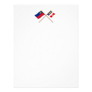 Liechtenstein Flag and Schaan Armorial Banner Letterhead Design