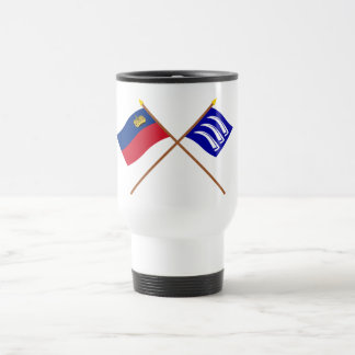 Liechtenstein Flag and Triesen Armorial Banner 15 Oz Stainless Steel Travel Mug