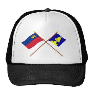 Liechtenstein Flag and Triesenberg Armorial Banner Hats