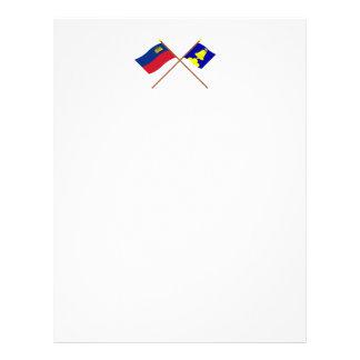 Liechtenstein Flag and Triesenberg Armorial Banner Letterhead Design