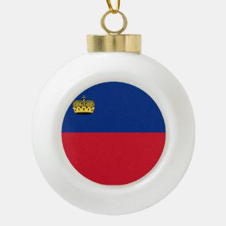 Liechtenstein Flag Ceramic Ball Christmas Ornament
