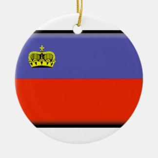 Liechtenstein Flag Ceramic Ornament
