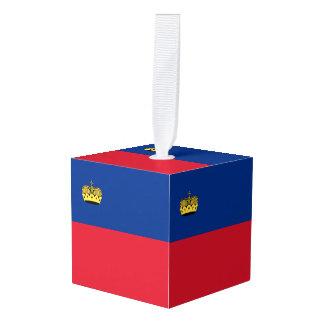 Liechtenstein Flag Cube Ornament