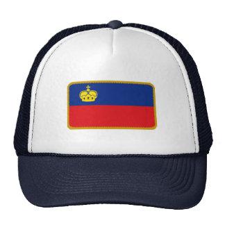 Liechtenstein flag embroidered effect hat