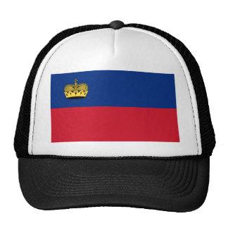 Liechtenstein flag mesh hat