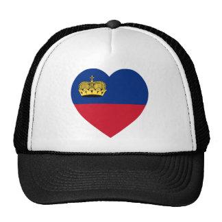 Liechtenstein Flag Heart Hat