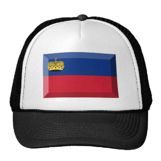 Liechtenstein Flag Jewel Mesh Hat