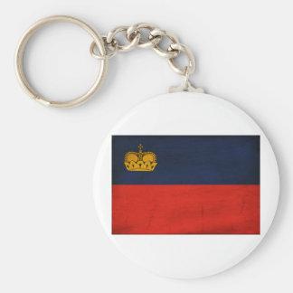 Liechtenstein Flag Basic Round Button Keychain