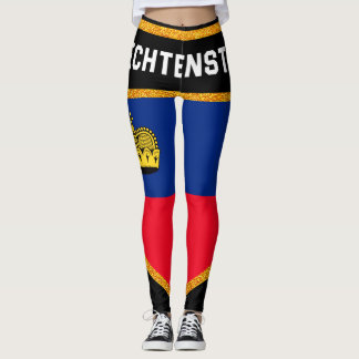 Liechtenstein Flag Leggings