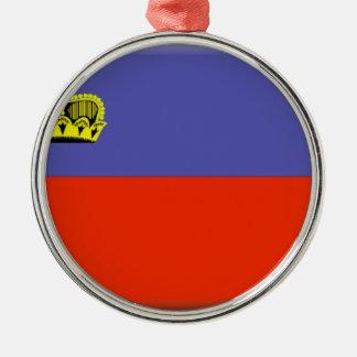 Liechtenstein Flag Metal Ornament