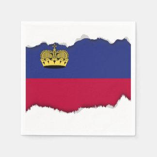 Liechtenstein Flag Paper Napkin