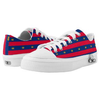 Liechtenstein Flag -.png Low-Top Sneakers