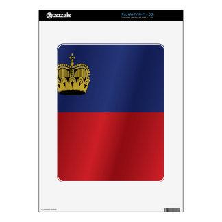 Liechtenstein flag skin for the iPad