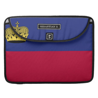 Liechtenstein Flag Sleeve For MacBook Pro