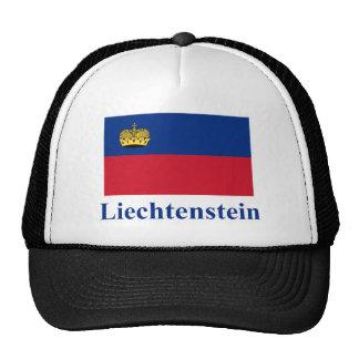 Liechtenstein Flag with Name Trucker Hats