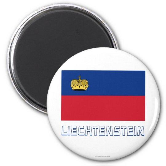 Liechtenstein Flag with Name Magnet