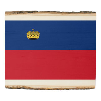Liechtenstein Flag Wood Panel
