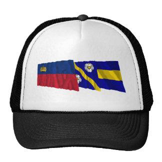 Liechtenstein & Gamprin Waving Flags Mesh Hats