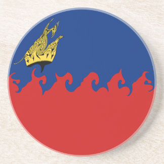 Liechtenstein Gnarly Flag Beverage Coaster