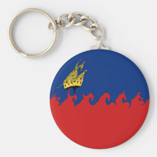 Liechtenstein Gnarly Flag Keychain