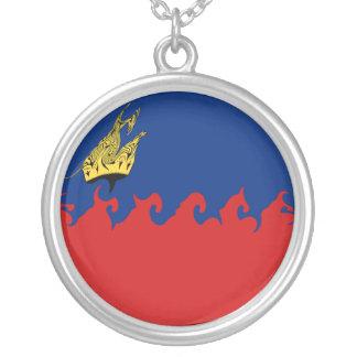 Liechtenstein Gnarly Flag Custom Necklace