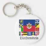 Liechtenstein & its Gemeinde Flags Key Chain