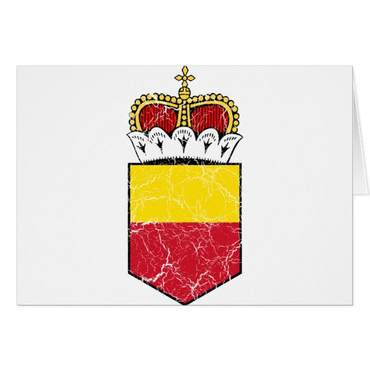 Liechtenstein Lesser Coat Of Arms Card