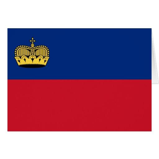 Liechtenstein, Libya flag Greeting Card