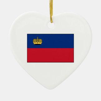 Liechtenstein National Flag Ceramic Ornament
