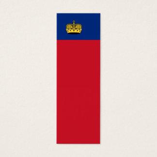 Liechtenstein National Flag Mini Business Card