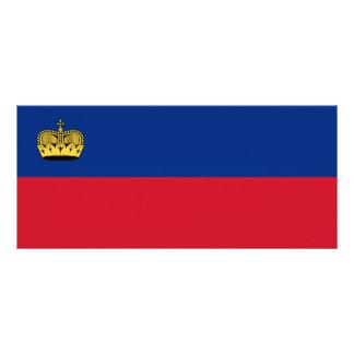 Liechtenstein National Flag Rack Card Design