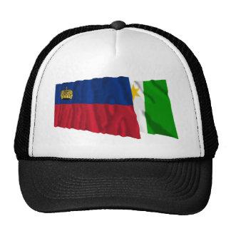 Liechtenstein & Planken Waving Flags Hats