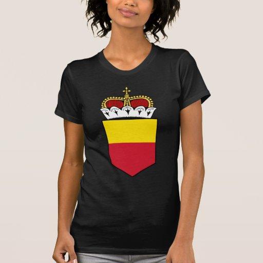 Liechtenstein poco escudo de armas camisetas