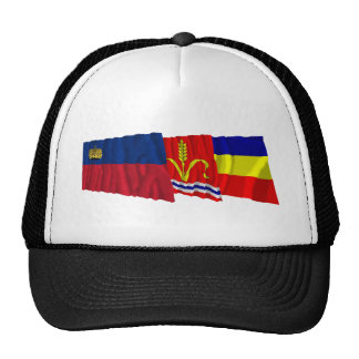 Liechtenstein & Ruggell Waving Flags Mesh Hat