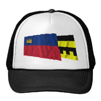 Liechtenstein & Schellenberg Waving Flags Trucker Hat